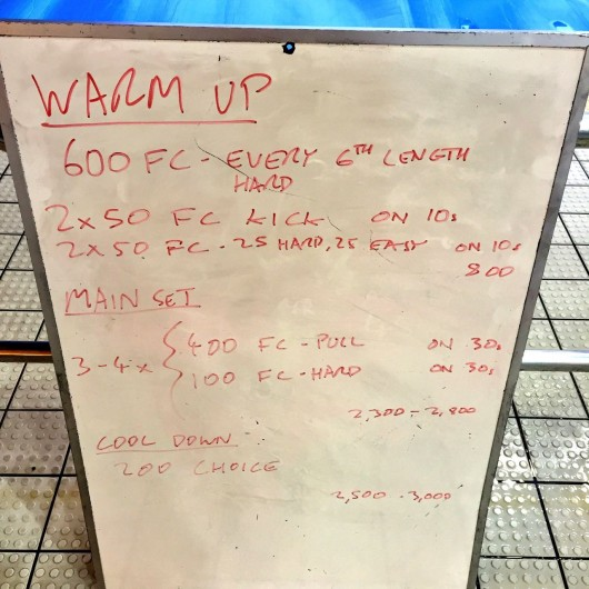 Wednesday, 13th April 2016 - Swim Session