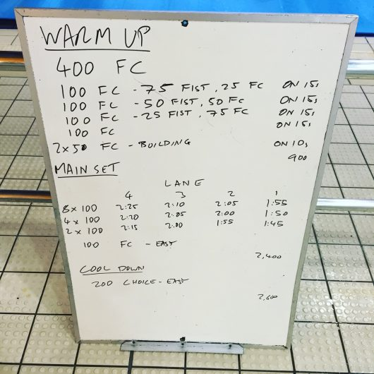 Wednesday, 11th May 2016 - Swim Session