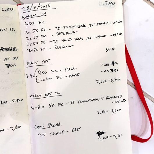 Thursday, 28th July 2016 - Triathlon Swim Session