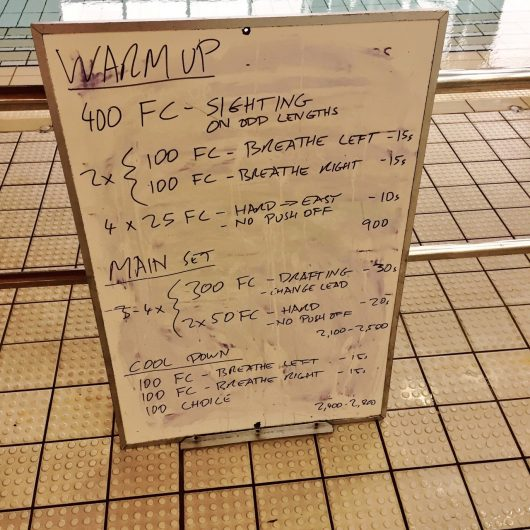 Wednesday, 3rd August 2016 - Triathlon Swim Session