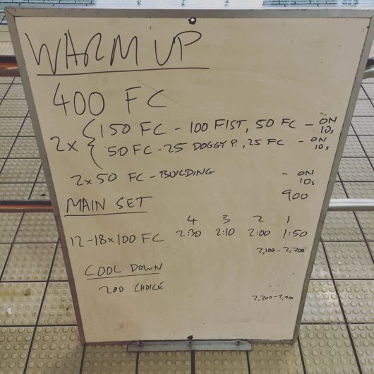 Wednesday, 10th August 2016 - Triathlon Swim Session