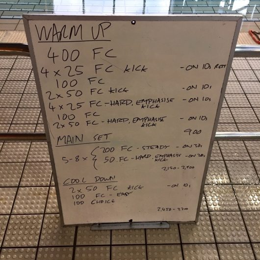 Wednesday, 24th August 2016 - Triathlon Swim Session