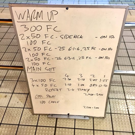 Wednesday, 7th September 2016 - Triathlon Swim Session