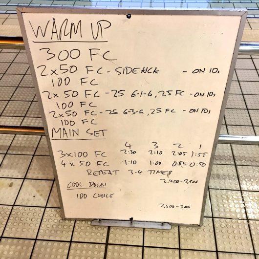 Wednesday, 7th September 2016 - Triathlon Swim Session