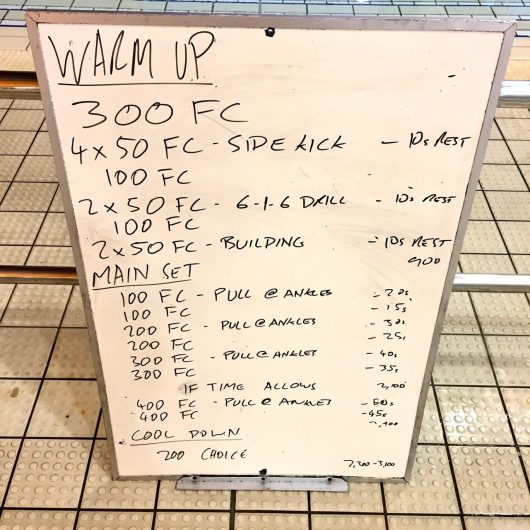 Wednesday, 5th October 2016 - Triathlon Swim Session
