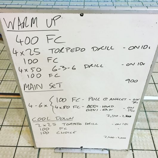 Wednesday, 19th October 2016 - Triathlon Swim Session