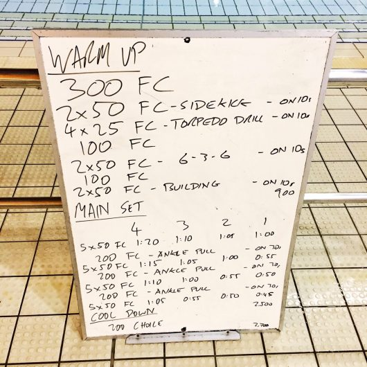 Wednesday, 26th October 2016 - Triathlon Swim Session