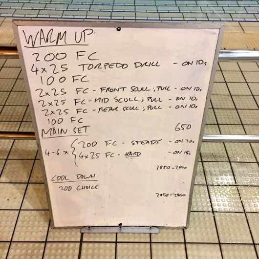 Wednesday, 9th November 2016 - Triathlon Swim Session