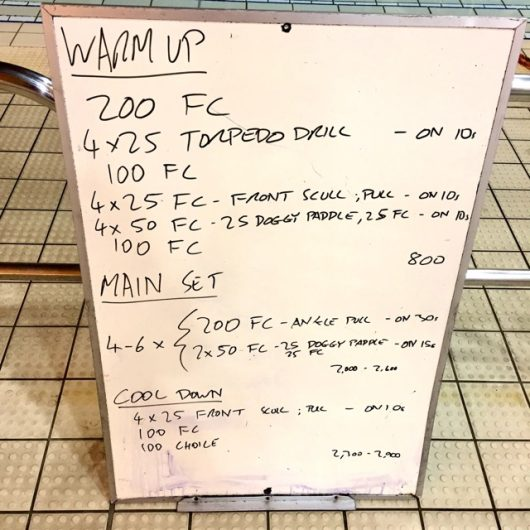 Wednesday, 16th November 2016 - Triathlon Swim Session