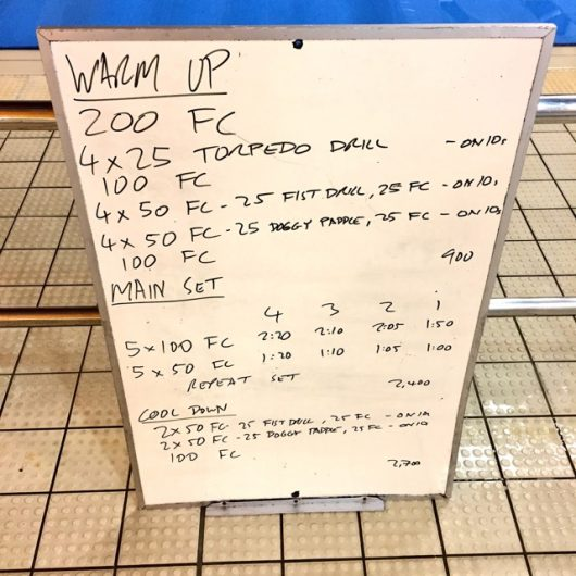 Wednesday, 7th December 2016 - Triathlon Swim Session
