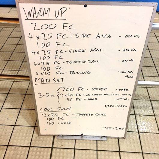 Wednesday, 14th December 2016 - Triathlon Swim Session