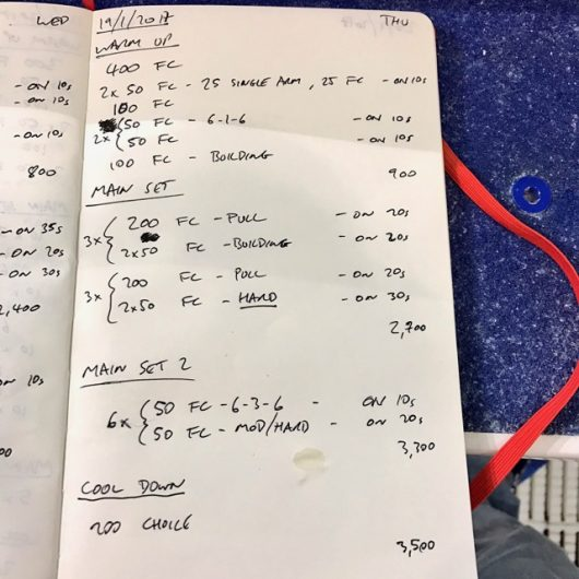 Thursday, 19th January 2017 - Triathlon Swim Session