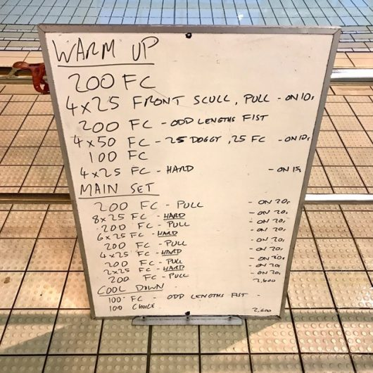 Wednesday, 22nd February 2017 - Triathlon Swim Session
