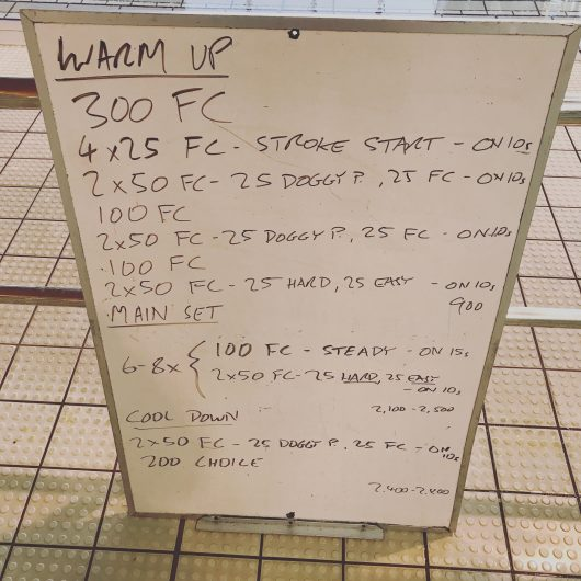 Wednesday, 5th April 2017 - Triathlon Swim Session