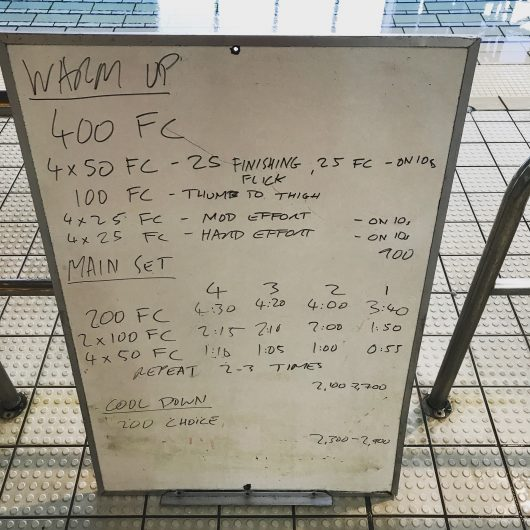 Wednesday, 3rd May 2017 - Triathlon Swim Session
