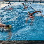 Working through a Lanzarote training camp swim session