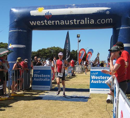 Ironman Western Australia 2008 - Finishers chute