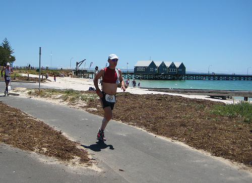 Ironman Western Australia 2008 Run - Busselton Jetty in background