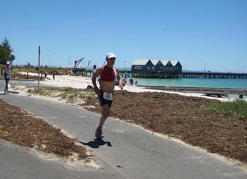 Ironman Western Australia 2008 Run - Busselton Jetty in background