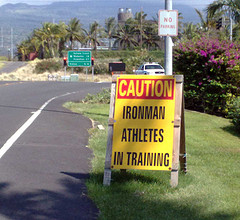 Caution Ironman Athletes